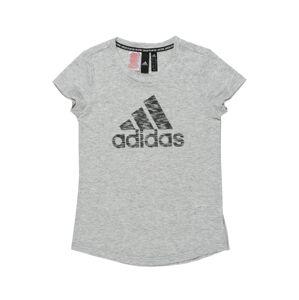 ADIDAS PERFORMANCE Funkčné tričko  biela melírovaná