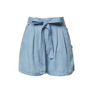 Funky Buddha Plisované nohavice  modrá denim