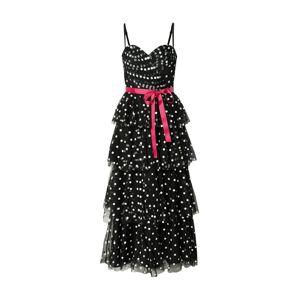 Forever Unique Večerné šaty 'MILLIE MAXI'  červená / čierna / slonová kosť