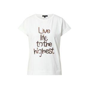 MORE & MORE Tričko  biela / bronzová