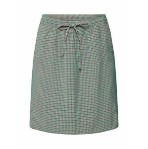 re.draft Sukňa 'Jaquard Skirt'  zelená / červená / čierna