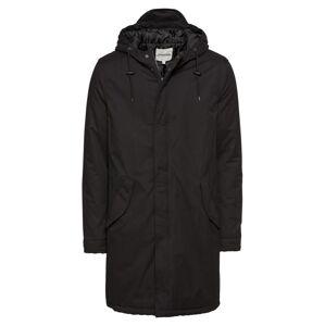 YOURTURN Zimný kabát 'Padded Parka Repeat'  čierna