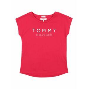 TOMMY HILFIGER Tričko 'Foil Print Tee S/S'  ružová