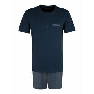 SCHIESSER Krátke pyžamo  biela / tmavomodrá