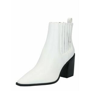 NA-KD Členkové čižmy  biela