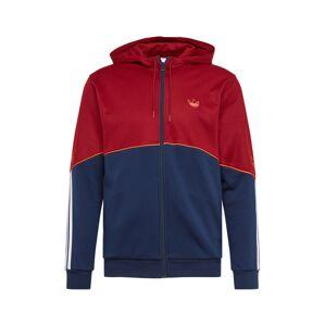 ADIDAS ORIGINALS Tepláková bunda  biela / modrá / červená