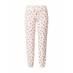 PJ Salvage Pyžamové nohavice 'All Things Love'  staroružová / šedobiela