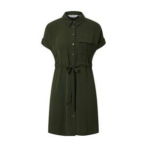 Dorothy Perkins (Petite) Košeľové šaty 'KHAKI SHIRT DRESS'  tmavozelená / kaki