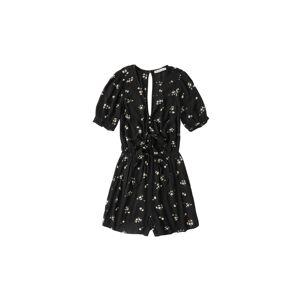 Abercrombie & Fitch Overal 'TIE-FRONT ROMPER'  zmiešané farby / čierna