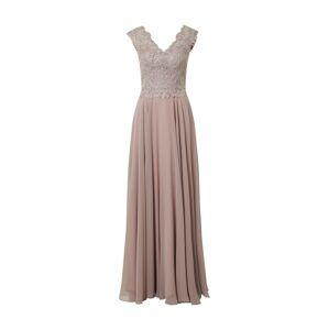 LUXUAR Večerné šaty '2020-II'  staroružová / svetlofialová / strieborná