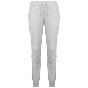 ADIDAS PERFORMANCE Športové nohavice  sivá / červená