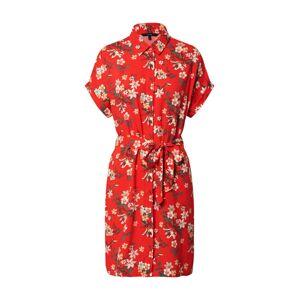 VERO MODA Košeľové šaty 'Simply Easy'  svetločervená / olivová / zelená / béžová / žltá