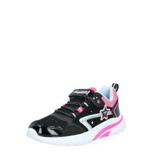 KangaROOS Tenisky 'Daisy EV II'  čierna / ružová / strieborná / biela