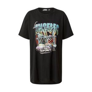 Missguided Oversize tričko  čierna / zmiešané farby
