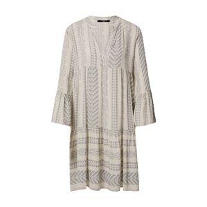 ZABAIONE Košeľové šaty 'Vivi'  béžová / svetlosivá