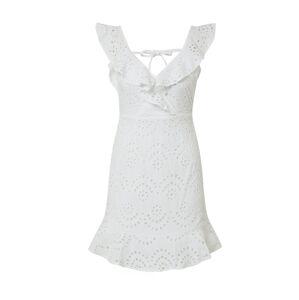 IVYREVEL Šaty 'ENGLISH LACE FRILL DRESS'  biela