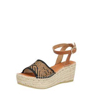MACARENA Remienkové sandále 'NAYA42'  čierna / hnedá