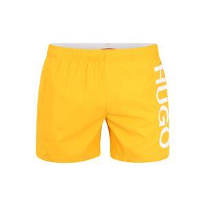 HUGO Plavecké šortky 'Abas'  biela / oranžová