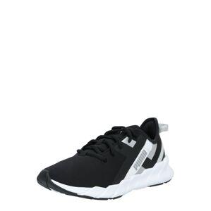 PUMA Športová obuv  čierna / biela / striebornosivá
