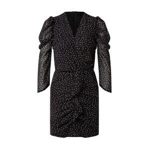 AX Paris Šaty  čierna / biela