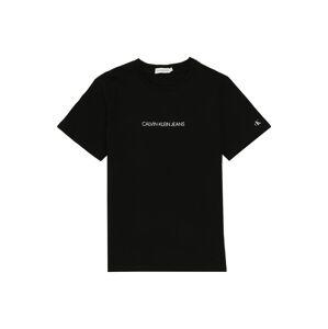 Calvin Klein Jeans Tričko 'BASKETBALL BACK PRINT SS T-SHIRT'  čierna