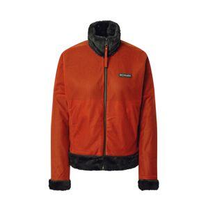 COLUMBIA Funkčná flisová bunda  sivá / oranžová