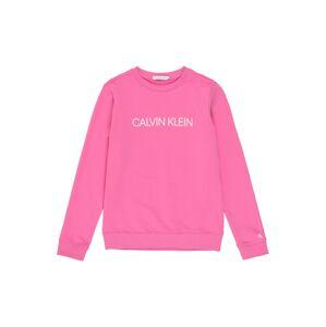 Calvin Klein Jeans Mikina  biela / ružová