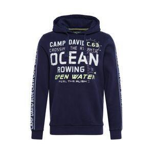 CAMP DAVID Mikina 'sweatshirt with hood'  zmiešané farby / námornícka modrá / šedobiela