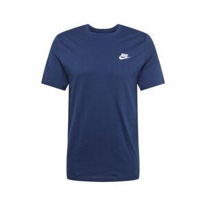 Nike Sportswear Tričko 'Club Tee'  námornícka modrá / biela