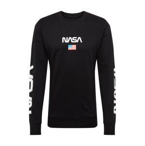 Mister Tee Mikina 'NASA'  biela / čierna
