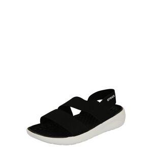 Crocs Sandále 'LiteRide'  čierna / biela