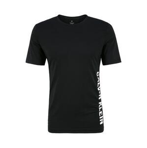 Calvin Klein Performance Funkčné tričko  čierna / biela
