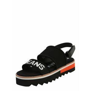 Pepe Jeans Remienkové sandále 'Ella Nari'  čierna