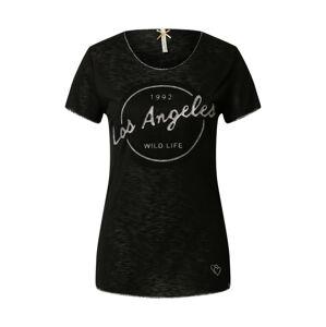 Key Largo Tričko  čierna / sivá