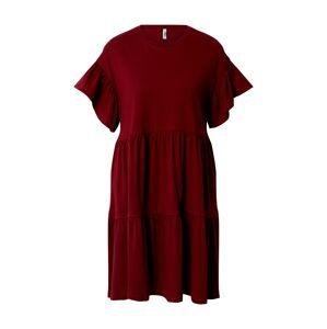 ONLY Šaty 'ONLMAY NEW LIFE S/S CUTLINE DRESS'  bordová