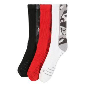 NIKE Športové ponožky 'Everyday Max'  červená / čierna / biela