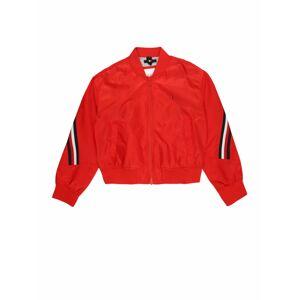TOMMY HILFIGER Prechodná bunda  červená / strieborná / čierna