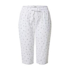 ESPRIT Pyžamové nohavice  biela / modrá