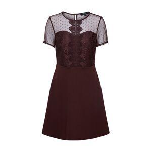 Dorothy Perkins Puzdrové šaty  vínovo červená