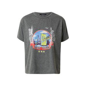 Trendyol Tričko  grafitová / biela / žltá / svetlomodrá / červená / čierna