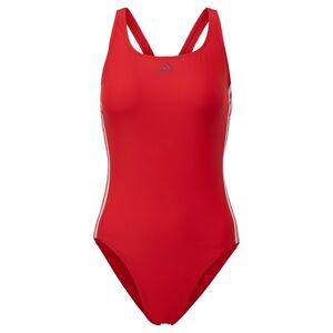 ADIDAS PERFORMANCE Športové jednodielne plavky  biela / červená