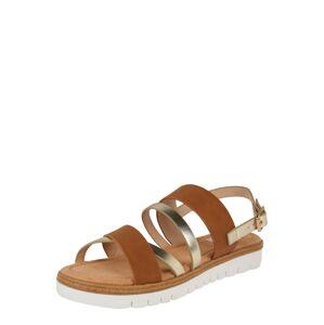 MTNG Sandále 'DAMA'  hnedá / strieborná