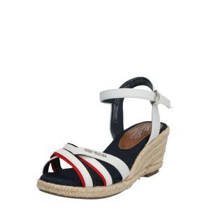 TOM TAILOR Remienkové sandále  svetločervená / biela