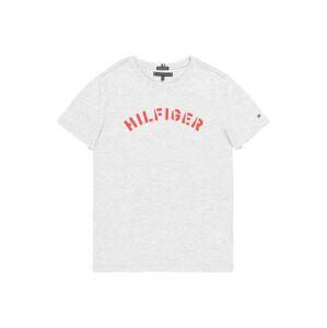 TOMMY HILFIGER Tričko  sivá melírovaná / červená