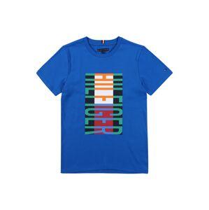 TOMMY HILFIGER Tričko  modrá / tmavooranžová / limetová / biela / červená