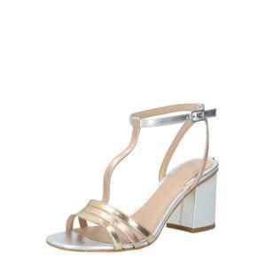GUESS Remienkové sandále 'Maise2'  ružová / strieborná / biela / zlatá