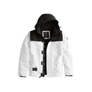 HOLLISTER Prechodná bunda 'XM19'  čierna / biela