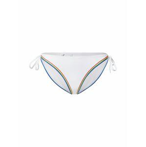 Calvin Klein Swimwear Bikinové nohavičky 'STRING SIDE TIE BIKINI'  biela / zmiešané farby