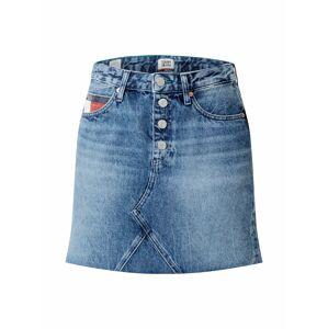 Tommy Jeans Sukňa  modrá denim / biela / červená