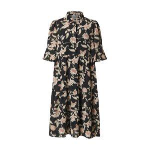 SECOND FEMALE Košeľové šaty 'Neo'  béžová / čierna